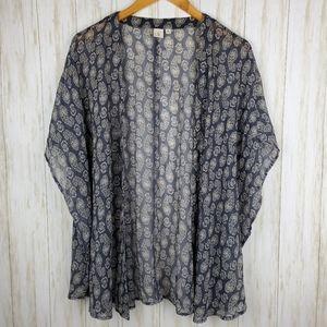 BP boho paisley print kimono duster Nordstrom M/L